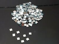 300 pieces, Silver Glass Mirror Tiles, Approx 0.5 x 0.5 cm, 1mm Thick, Art&Craft