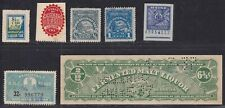 7 Various State Alcoholic Beverage Tax Stamps, High Catalog Value, see scans.