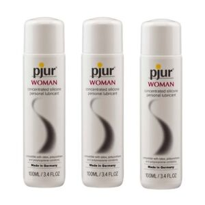 3PK Pjur Woman BodyGlide Silicone Based Personal Lubricant Lube Madein Germany