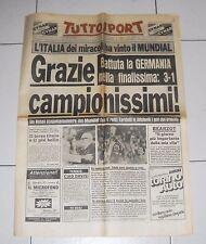 Tuttosport MONDIALI 1982 ITALIA GERMANIA 3-1 Grazie Campionissimi 12 luglio