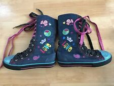 Bongo Girls Sparkle High Top Lace Up Shoe 2 Loretta