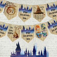 Personalised Hogwarts Harry Potter School of Magic Bunting/Banner & Ribbon - 3m