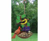 Stained Glass  -  Goldfinch  Bird Feeder   - Sun Catcher -  GE212