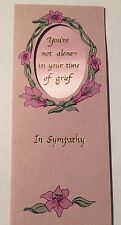 In Sympathy Cameo greeting cards with Ribbon Keepsake- Set of 12 (#4-653)