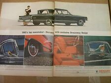 Original 1963 Mercury with Breezeway Design Two-Page Magazine Ad