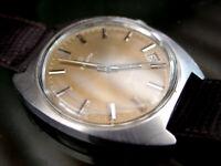 Zenith Sporto taglia grande raro quadrante color oro/salmone perfetto anni '60