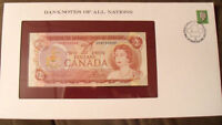Banknotes of All Nations Canada 2 dollars 1974 UNC P 86a prefix UM