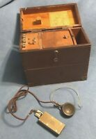 antique WESTERN ELECTRIC 20 C TEST SET (ISSUE 1) P-144733 CASE LINEMAN vintage