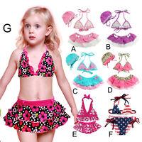 Kids Baby Girls Floral Swimsuit Bikini Set Swimwear Beachwear Bathing Suit 1-8Y