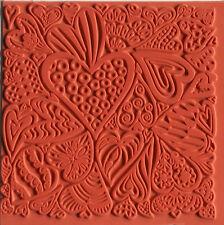 Texturmatte Hearts zur Gestaltung von Modelliermasse, Ton oder zum Stempeln
