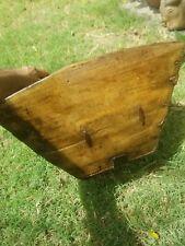 New listing Hand Made Asian Chinese Japanese Rice Grain Bucket Basket Wood Iron