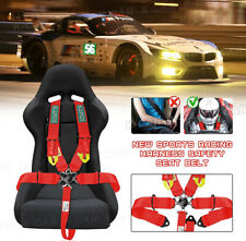 Universal Red 5 Point Camlock Quick Release Racing Seat Belt Harness