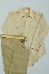 South African Army SADF 1970s Uniform Shirt, Trousers and Belt. Ref 7CH