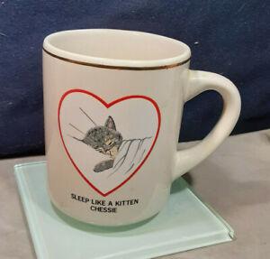 Chessie Railroad Sleep Like a Kitten Coffee Cup