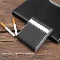 Black Cigarette Cases Pocket Carrying Cigarette Box Case Holds 20 Cigarettes