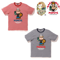 * A BATHING APE Men's BAPE x POPEYE HOOP MILO TEE 2colors From Japan New