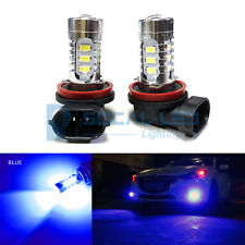 2x Dark Blue H11 H8 LED Fog Light Bulbs 15W SMD 5730 High Bright Daytime DRL