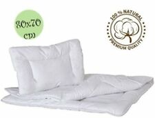 Luxury Quilted Duvet  Pillow 100 Cotton 2 Piece Set for Baby Crib Or PRAM