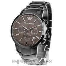 * Nuevo * Reloj para hombre EMPORIO ARMANI GRIS GRIS PLOMO-AR2454-RRP £ 399.00