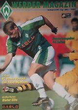 Programm 1997/98 SV Werder Bremen - Hansa Rostock / 1860 München