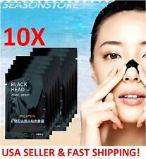 10pcs PILATEN deep cleansing black mud mask, nose pore strip peel