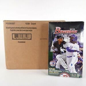 2019 Bowman Baseball Factory Sealed Hobby Box Case of 12 - Wander Franco