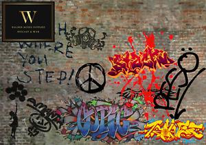 1:24 scale (3xA4) Garage Graffiti wall - Peel and Apply decal/diorama/model car3