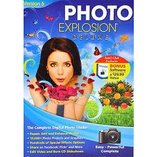 Photo Explosion 5.0 Deluxe Imaging & Bonus Album Plus Software ~ Brand New!