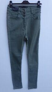 BNWT NEXT Ladies Khaki High Waist Stretch Skinny Jeans UK 10R / WAIST ENHANCER