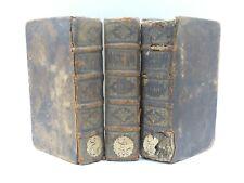 RARE LIVRES ANCIENS DU VERDIER HISTOIRE DE FRANCE 1673 GRAVURES 3 VOLUMES