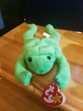 TY Beanie Baby Legs the Frog style 4020 with ERRORS VERY RARE