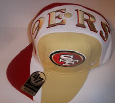 862932e4 San Francisco 49ers NFL 47 BRAND Captain Hat Logo Cap Adjustable Sz Red Gold