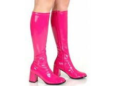 Hot Pink 1960s Go Go Ladies Pink Boots Women Knee High Boots - Size 6 UK - EU 39