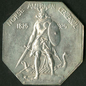 US Coin 1925 Thin Silver Norse American Medal NO RESERVE!