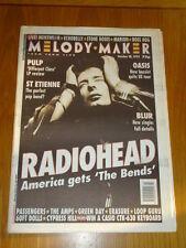 MELODY MAKER 1995 OCT 28 RADIOHEAD PULP ST ETIENNE BLUR