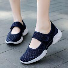 Ladies Non-Slip Leisure Flats Heel Round Toe Breathable Oxfords Shoes Sandals SZ