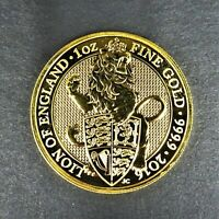 2016 Great Britain 1 oz Gold Queen's Beasts The Lion Coin Reverse Proof  RG1238