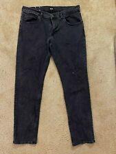 Hudson Black Slim Straight Denim Men's Size 36 x 34