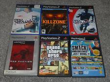 6x Games - Playstation 2 / PS2 (B) Grand Theft Auto San Andreas, Killzone Etc.