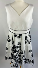 Coast Black & White Dress Size 16