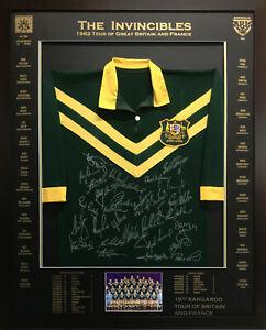 Blazed In Glory - 1982 Kangaroos The Invincibles - NRL Signed & Framed Jersey