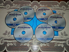 MINT Star Wars 1 2 3 4 5 6 Blu-ray Set Episodes I II III IV V VI (READ)