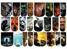 24 WATER SLIDE NAIL ART DECALS * HALLOWEEN HORROR MOVIES  * FULL NAIL COVERS