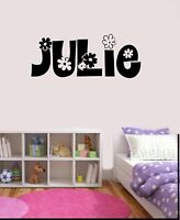 Girls Personalized Flower Name Decal Wall Sticker Bedroom Nursery