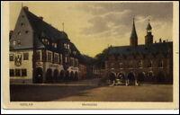 Goslar Niedersachsen alte Ansichtskarte ~1920/30 Partie am Marktplatz ungelaufen