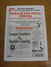 01/04/1994 South Devon League Herald Cup Final: Bovey Tracey v Hele Rovers [At N
