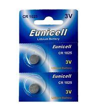 2 x CR1025 3V  Lithium Batterie auf 1 Blistercard a 2 Stück Eunicell