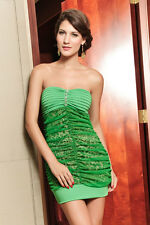 Sexy Women's Green Animal Print Mini Dress Cocktail Party