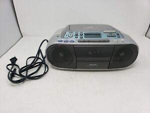 Sony CFD-S01 CD/Radio/Cassette Boombox, AM FM Mega Bass Tested Working