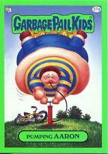Garbage Pail Kids Flashback Series 3 Green Parallel Base Card 37a Pumping AARON